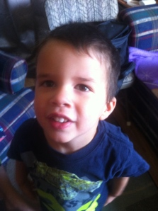 Jonathan is 3.5 and is working on letters and numbers.  He loves doing school with sisters.