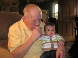 Jonathan with his great grandpa!