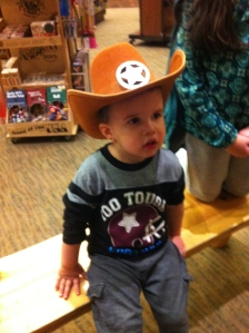 He loves his cowboy hat!