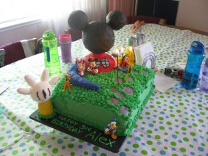 Mickey Mouse Cake for Alex