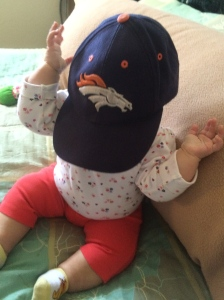 Our littlest Bronco fan!