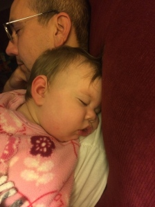 Daddy and Katherine sleeping.