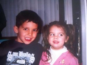 Natasha and cousin Jake 2006