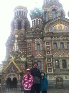 Their first day in St. Petersburg.