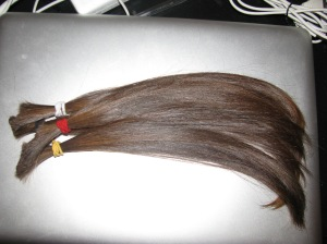 This is the hair being donated!