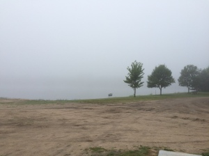 Tuesday, August 4th, can't even see the lake.