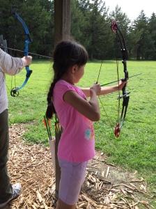 Belle loves Archery!