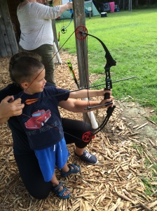 Jonathan trying archery!