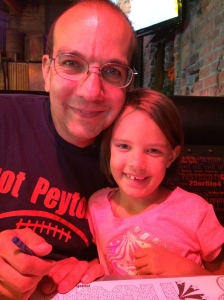 Birthday dinner at Alex's favorite pizza restaurant The Rock.