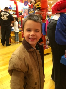 Jonathan at build a bear workshop.