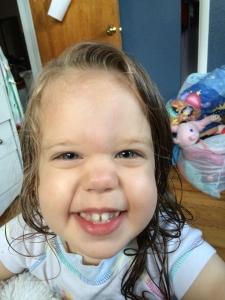 Katherine after a bath.  June 2016
