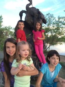 Kids at park June 2016