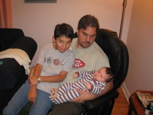 Jonathan with his Uncle Andy and his cousin Jake.