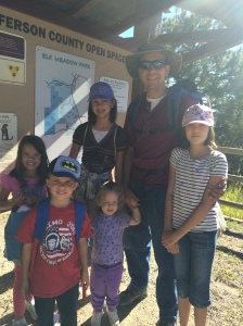 Family hike at Elk Meadow in Evergreen, August 2016
