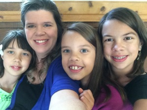 Me and the girls getting ready for the wedding.